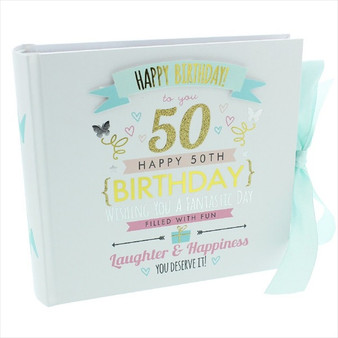 50th Birthday  Pink and Gold Album