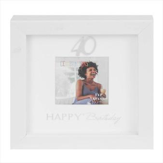 40th Birthday Box Photo Frame