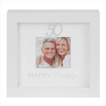 50th Birthday Box Photo Frame