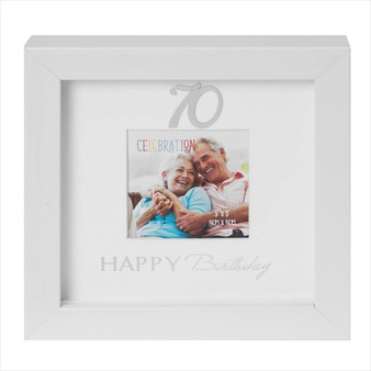 70th Birthday Box Photo Frame