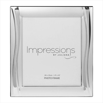 "Impressions Silver Plated Wavy Design 10/8"" Frame"