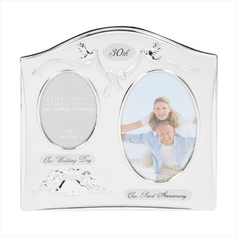 30th Pearl Anniversary Silver Plated Wedding/Anniversary Photo Frame