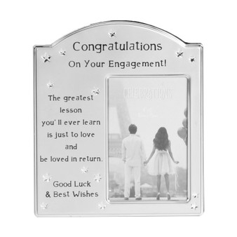 Engagement Silver Plated Arched Top Frame