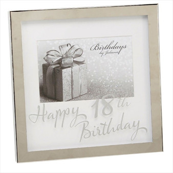 18th Birthday Silver Plated Box Frame