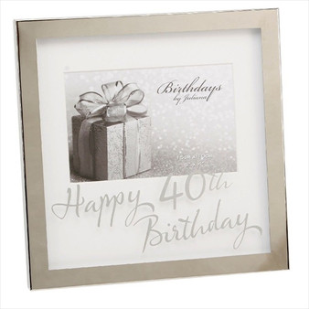 40th Birthday Silver Plated Box Frame