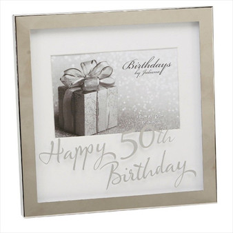 50th Birthday Silver Plated Box Frame