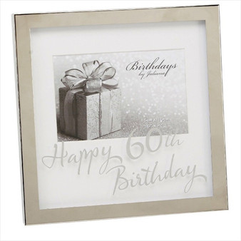 60th Birthday Silver Plated Box Frame