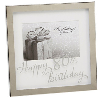 80th Birthday Silver Plated Box Frame