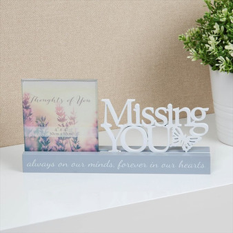 Missing You Resin Photo Frame