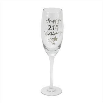 21st Birthday Champagne Glass
