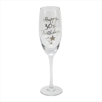 30th Birthday Champagne Glass