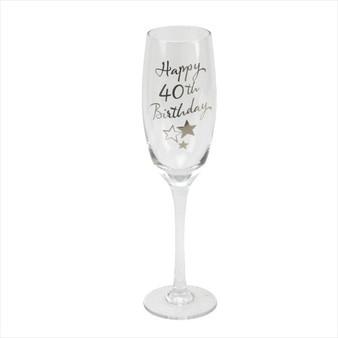 40th Birthday Champagne Glass