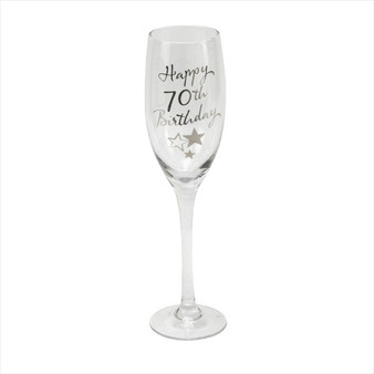 70th Birthday Champagne Glass