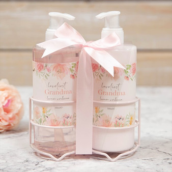 Loveliest Grandma in the World Lemon Verbena Soap & Hand Lotion Set