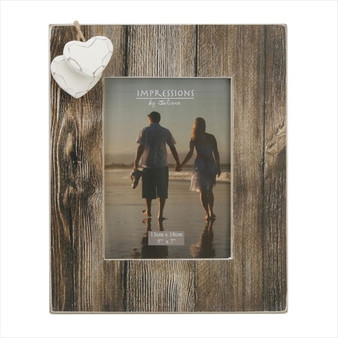 "Distressed Natural Wood 7/5"" Frame"