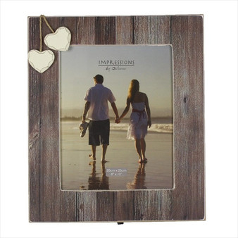 "Distressed Natural Wood 10/8"" Frame"