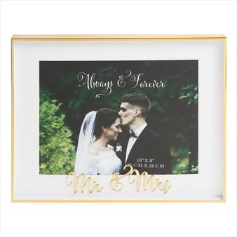 Always and Forever Mr & Mrs Photo Frame