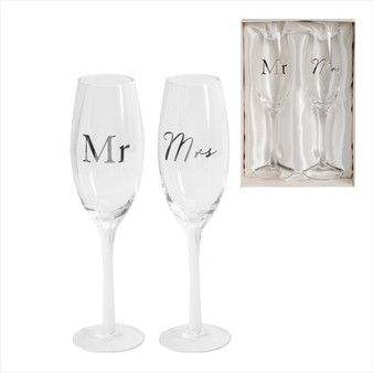 Mr & Mrs Champagne Flute Set