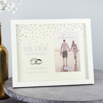 25th Silver Anniversary Showered with Love Frame
