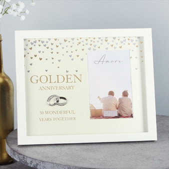 50th Golden Anniversary Showered with Love Frame