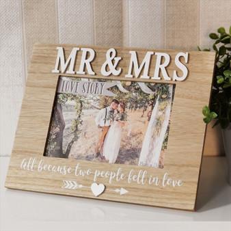 Mr & Mrs Love Story Photo Frame