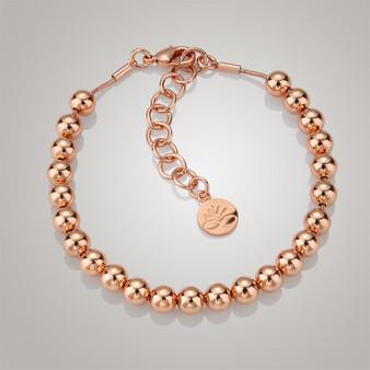 Rose Gold plate Small Bead Bracelet