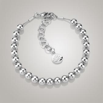 Rhodium plate Small Bead Bracelet