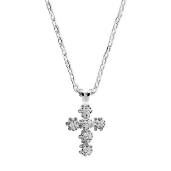 Cross Pendant Clear