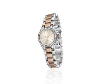 Rose Gold Silverplate Watch Round