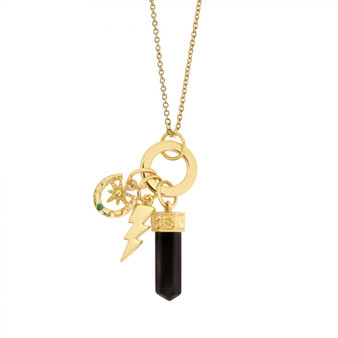 Gold Plated Pendant with Charms