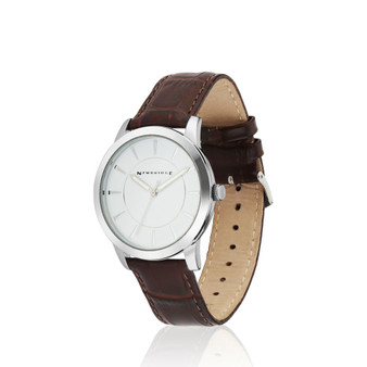Gents Watch with Leather Strap