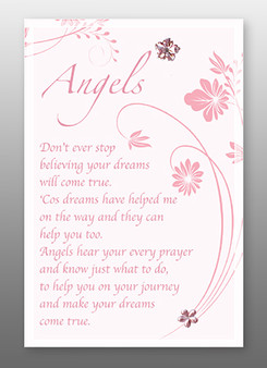 Glass Plaque - Angels Blessings
