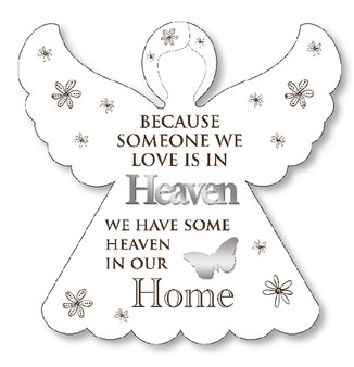 Wooden Angel Plaque/Loving Memory