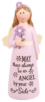 Resin 4 inch Message Angel/Always An Angel
