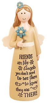 Resin 4 inch Message Angel/Friends-Angels