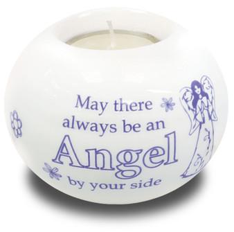 Porcelain Candle Holder/Always an Angel