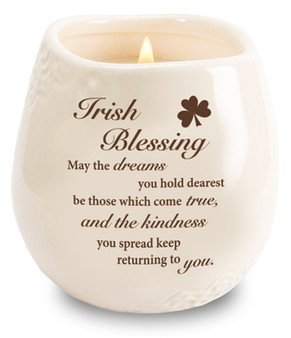 Stoneware Jar/Soy Wax Candle/Irish Blessing