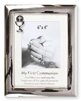 Silver Communion Photo Frame