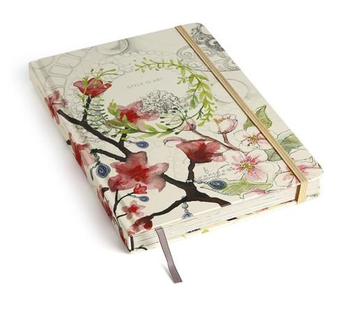 Style is Art Floral Hardback Notebook