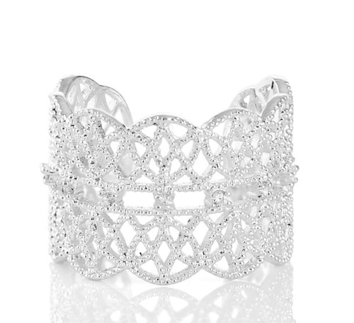 Silver Plated Lace Ring