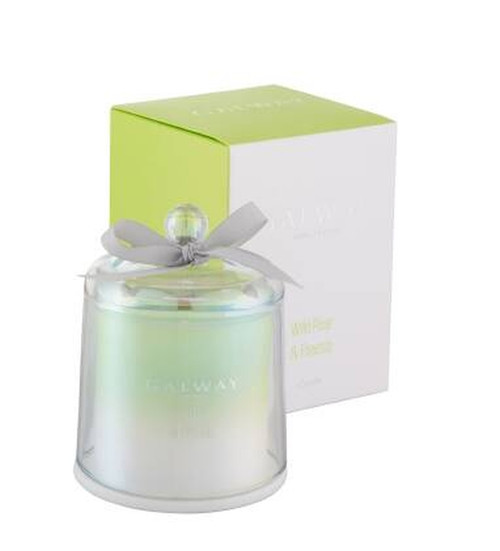 Galway Crystal Wild Pear and Freesia Bell Jar Candle