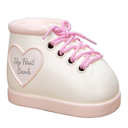 CELEBRATIONS������ Baby Boot Money Bank - Pink