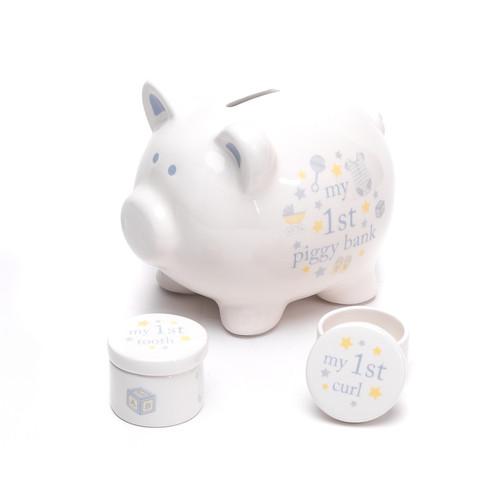 Hello Baby Piggy Bank Set 'Baby Boy'