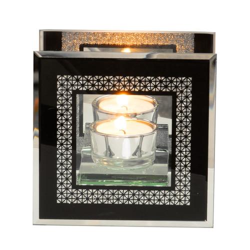 HESTIA������ Glass Mirror Single Tealight Holder