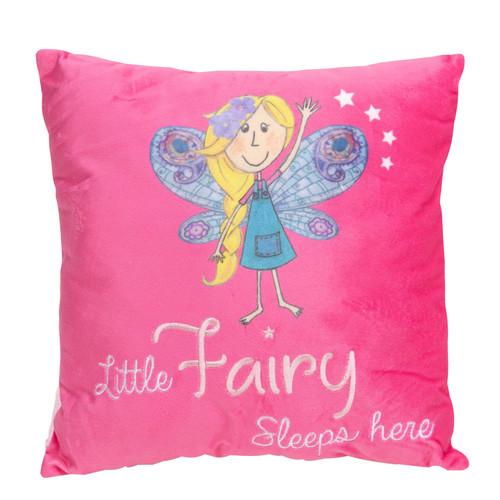 Magical Fairy 3D Cushion Pink - Little Fairy Sleeps Here
