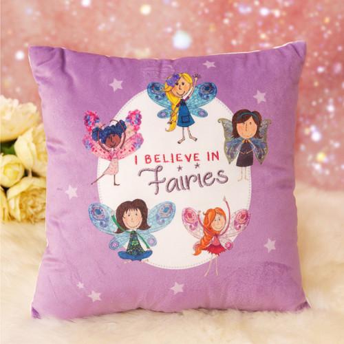 Magical Fairy Throw Cushion - I Believe In Fairies