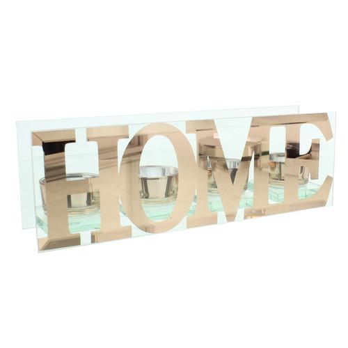 HESTIA������ Glass Quadruple Tealight Holder - Home