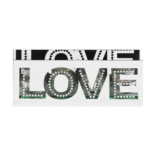 HESTIA® Mirrored Crystal Tealight Holder - Love