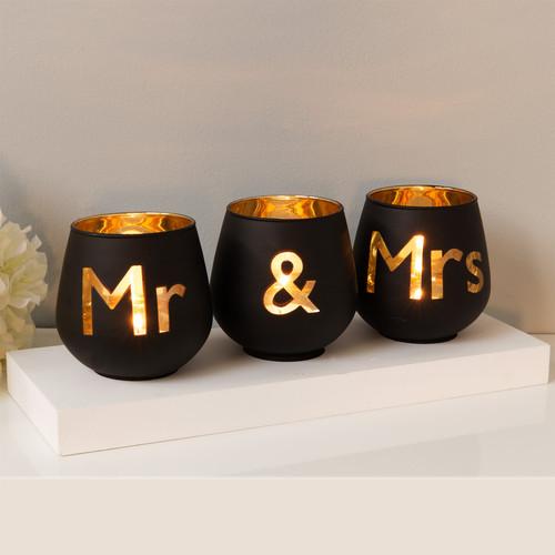 Always & Forever 'Mr & Mrs' Tealight Holders