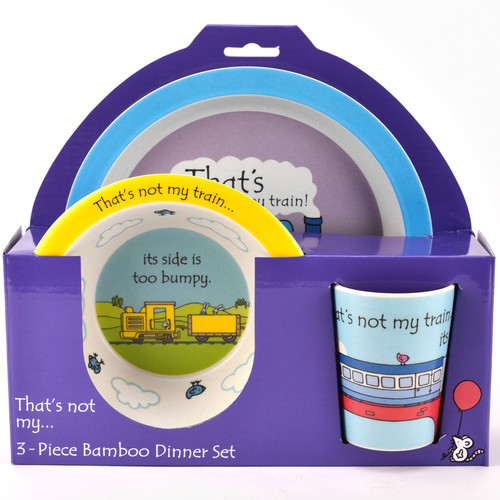 That's Not My Train 3 Piece Bamboo Dinner Set